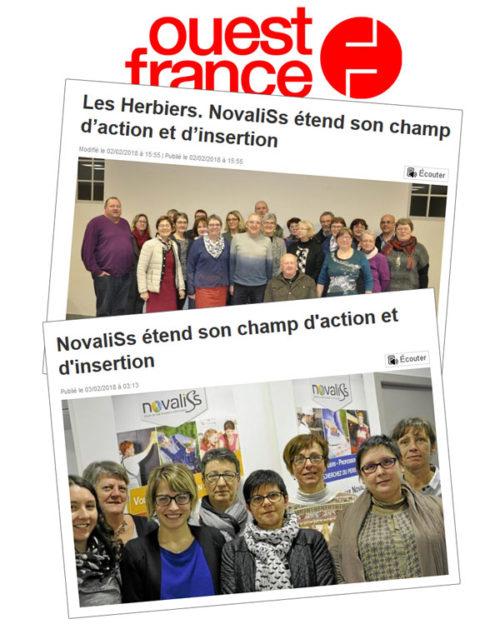 Ouest France : élection du nouveau Conseil d'Administration de NovaliSs suite à la fusion