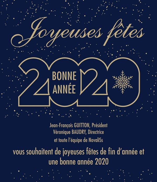 Novaliss vous souhaite de joyeuses fêtes et une bonne année 2020