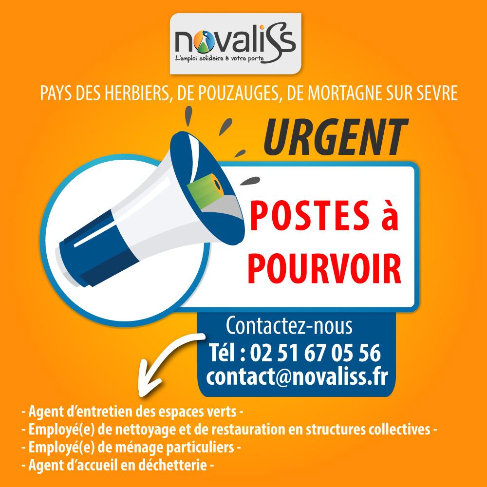 recrutement Novaliss, emploi solidaire en Vendée