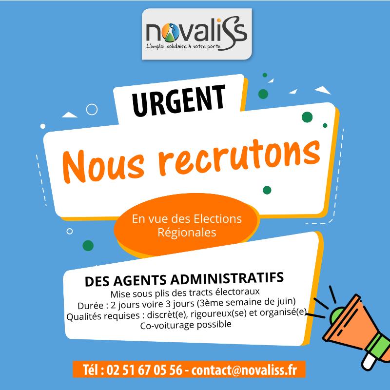 Emploi administratif - Novaliss Vendée